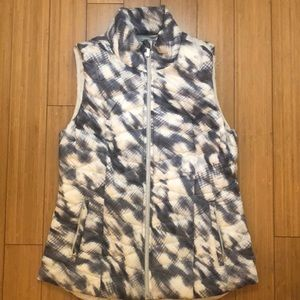 Athleta Puffer Blue/Grey and White Vest